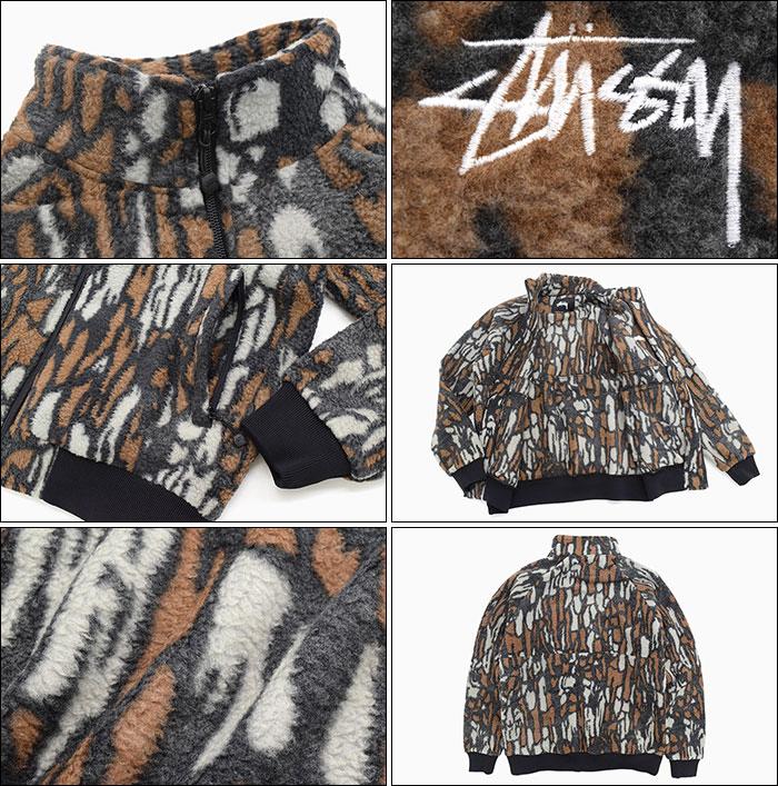 STUSSYステューシーのジャケット Tree Bark Fleece05