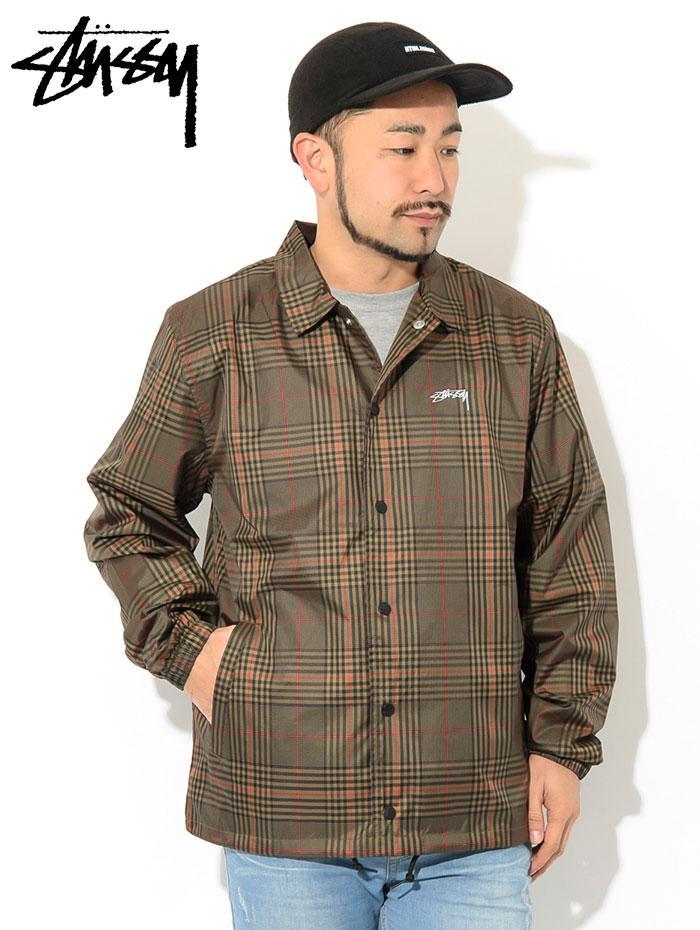STUSSYステューシーのジャケット Plaid Coach02
