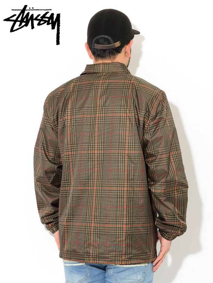 STUSSYステューシーのジャケット Plaid Coach03