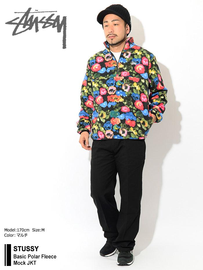 STUSSYステューシーのジャケット Basic Polar Fleece Mock01