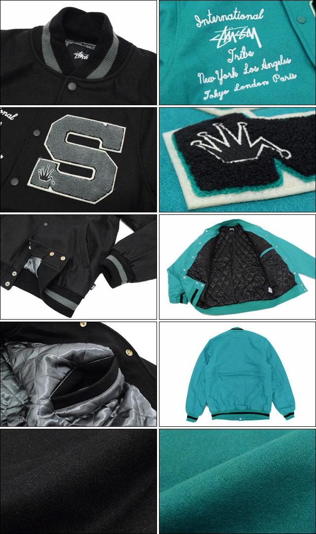 STUSSYステューシーのジャケット Big S Letterman06