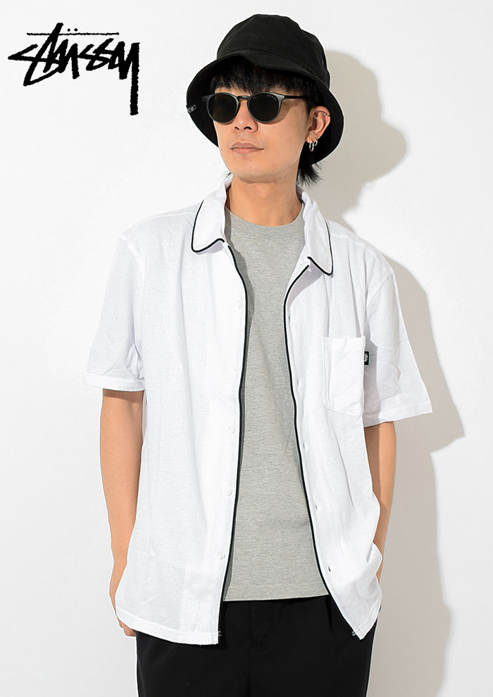 STUSSYステューシーのシャツ Sid Mesh Shirt02