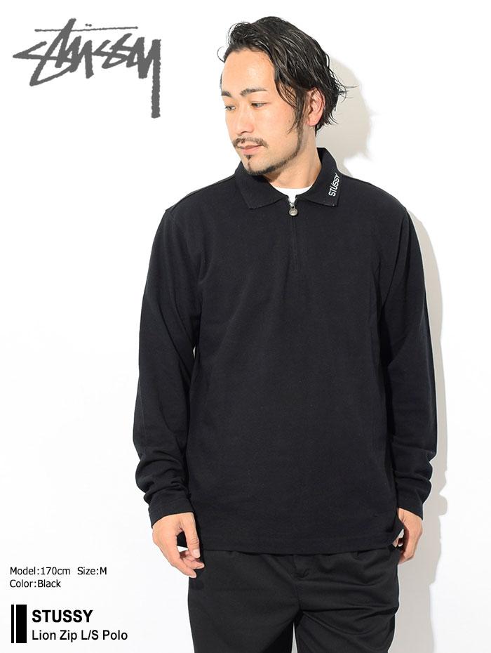STUSSYステューシーのポロシャツ Lion Zip Polo01