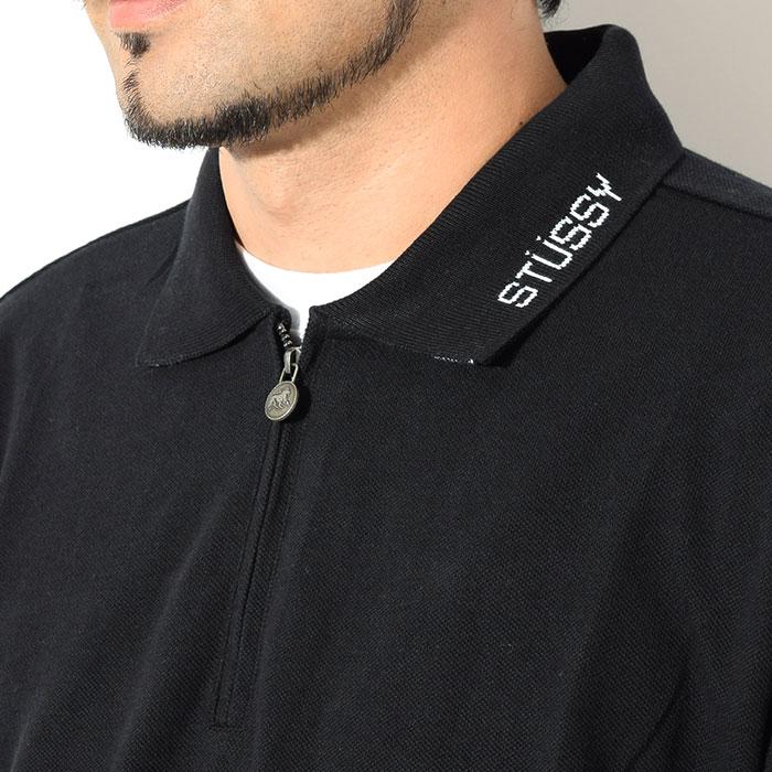 STUSSYステューシーのポロシャツ Lion Zip Polo02