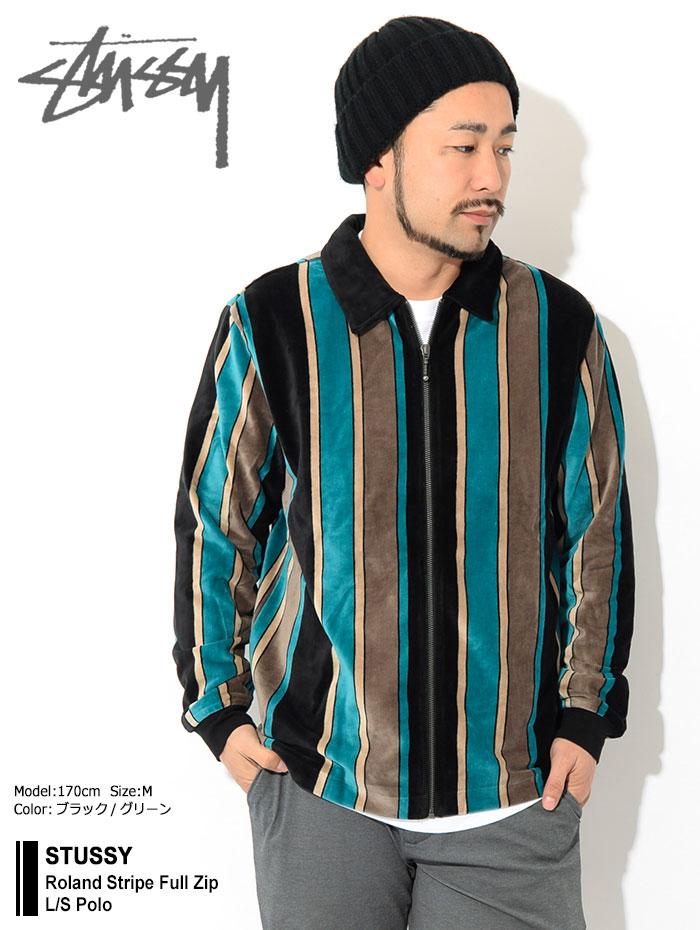 STUSSYステューシーのポロシャツ Roland Stripe Full Zip01