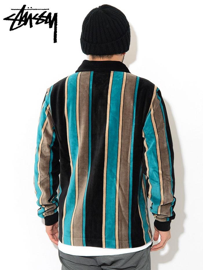 STUSSYステューシーのポロシャツ Roland Stripe Full Zip02