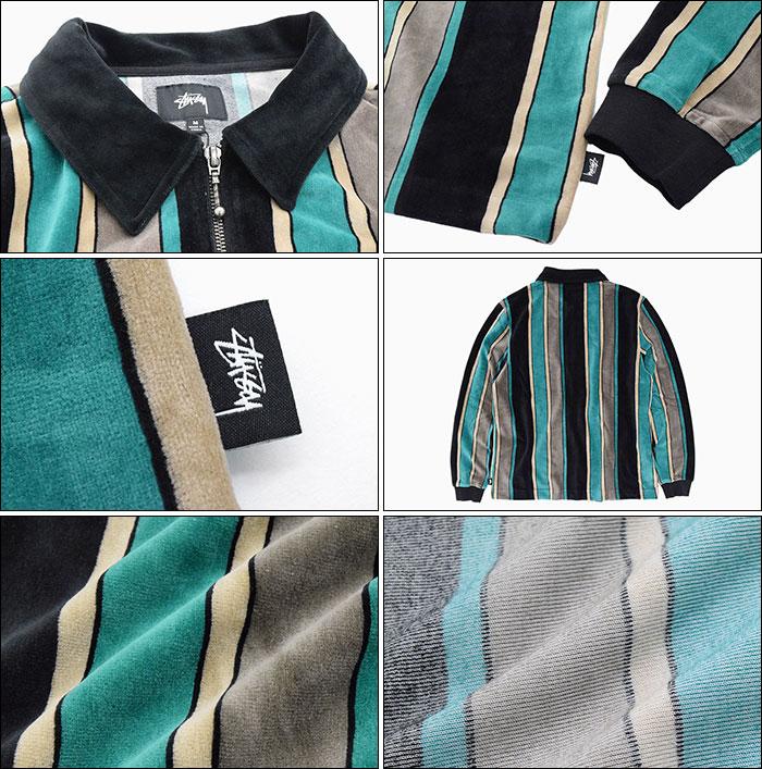 STUSSYステューシーのポロシャツ Roland Stripe Full Zip03