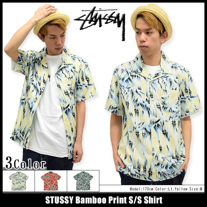 STUSSYステューシーのシャツ Bamboo Print01