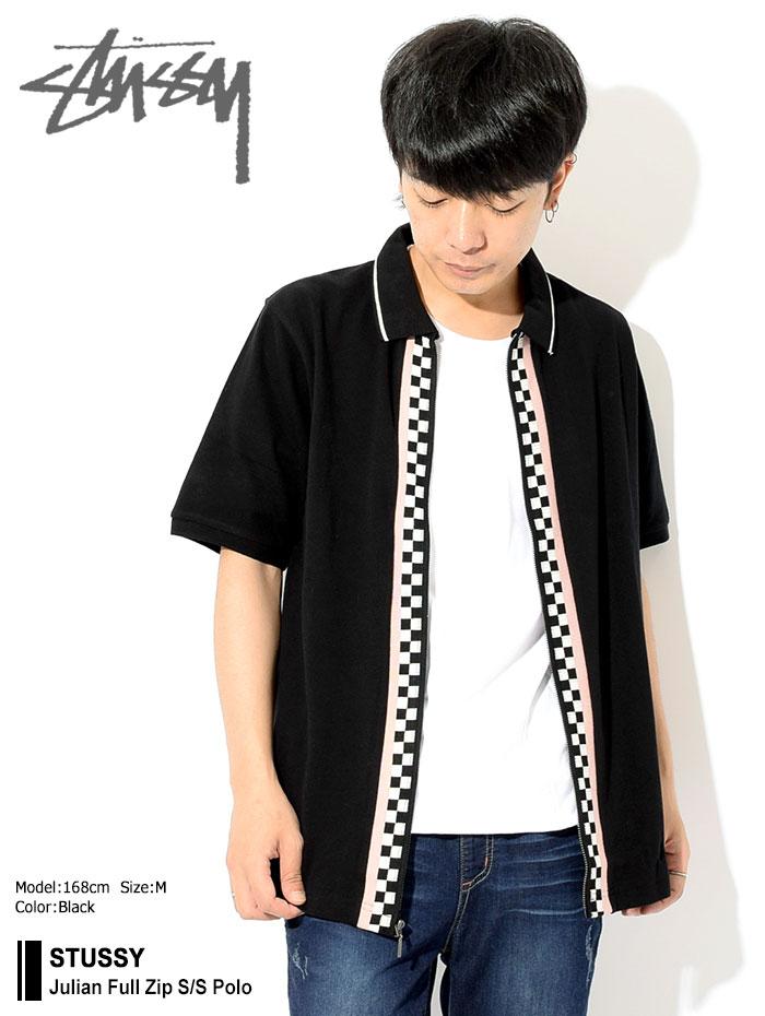 STUSSYステューシーのポロシャツ Julian Full Zip Polo01
