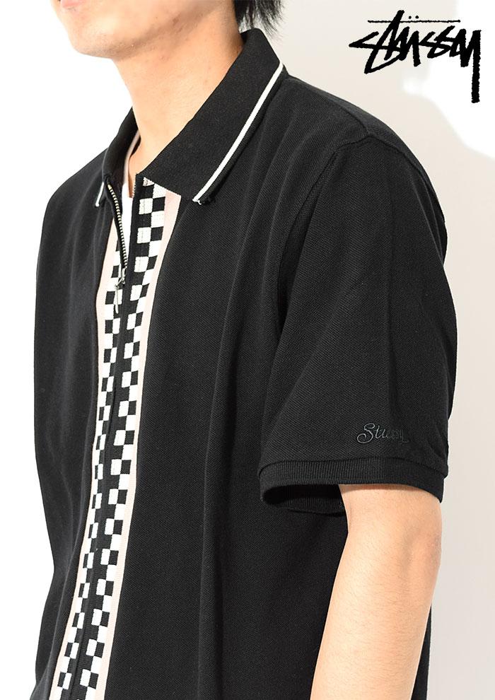 STUSSYステューシーのポロシャツ Julian Full Zip Polo02