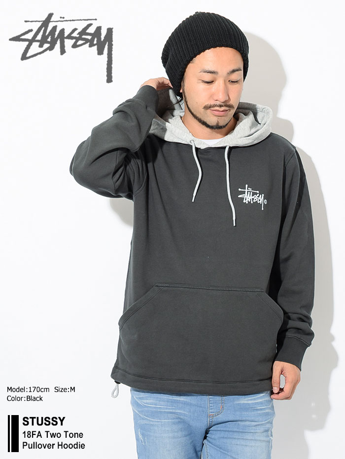 STUSSYステューシーのパーカー 18FA Two Tone Pullover Hoodie01