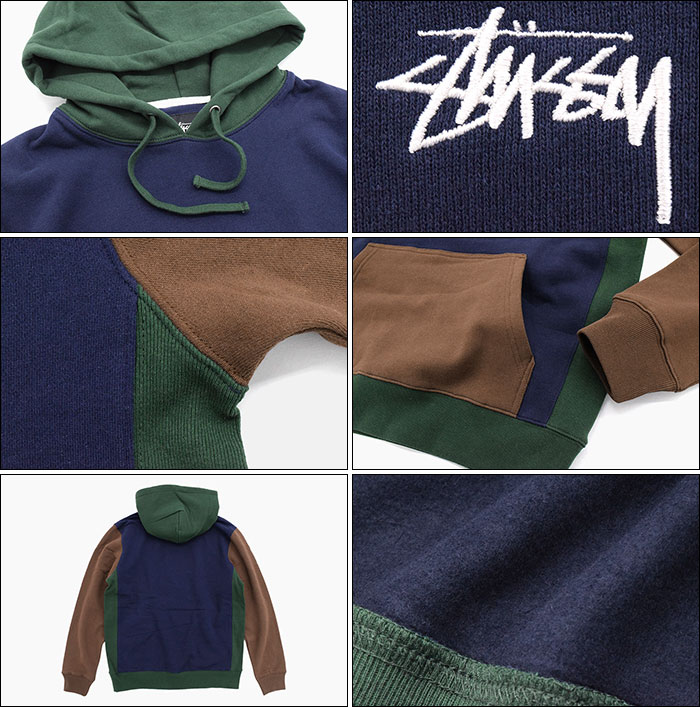 STUSSYステューシーのパーカー Color Blocked Pullover Hoodie03