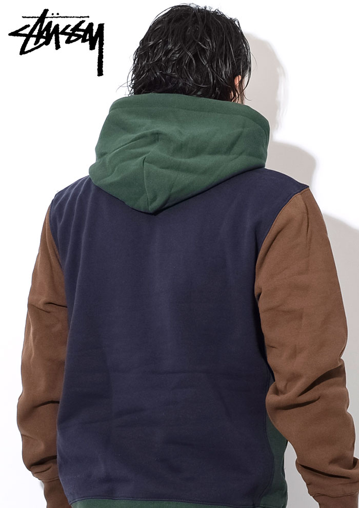 STUSSYステューシーのパーカー Color Blocked Pullover Hoodie02