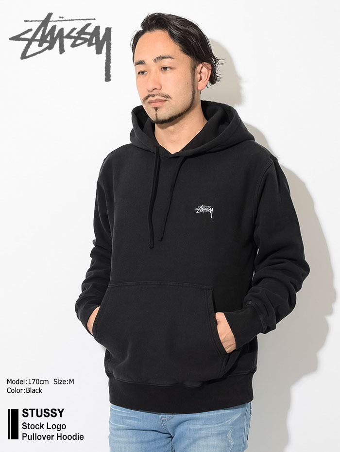 STUSSYステューシーのパーカー Stock Logo Pullover Hoodie01