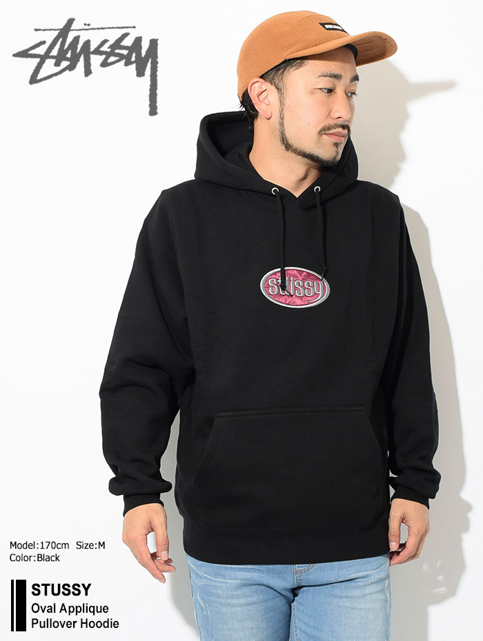 STUSSYステューシーのパーカー Oval Applique Pullover Hoodie01