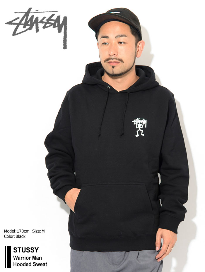 STUSSYステューシーのパーカー Warrior Man Hooded Sweat01