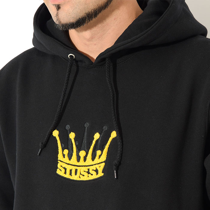 STUSSYステューシーのパーカー Chenille Crown Applique Pullover Hoodie02