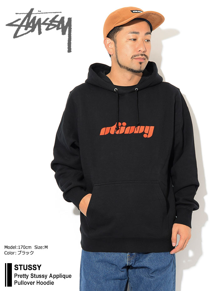 STUSSYステューシーのパーカー Pretty Stussy Applique Pullover Hoodie01