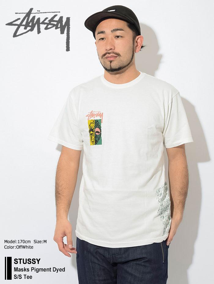 STUSSYステューシーのTシャツ Masks Pigment Dyed01