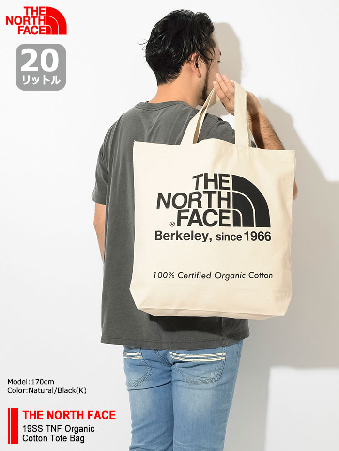 THE NORTH FACEザ ノースフェイスのバッグ 19SS TNF Organic Cotton Tote Bag01