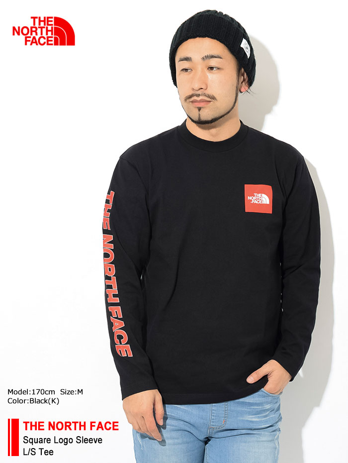 THE NORTH FACEザ ノースフェイスのTシャツ Square Logo Sleeve01