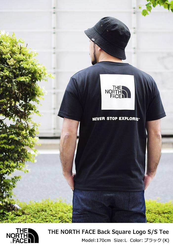 THE NORTH FACEザ ノースフェイスのTシャツ Back Square Logo01