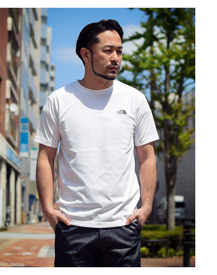 THE NORTH FACEザ ノースフェイスのTシャツ Back Square Logo02