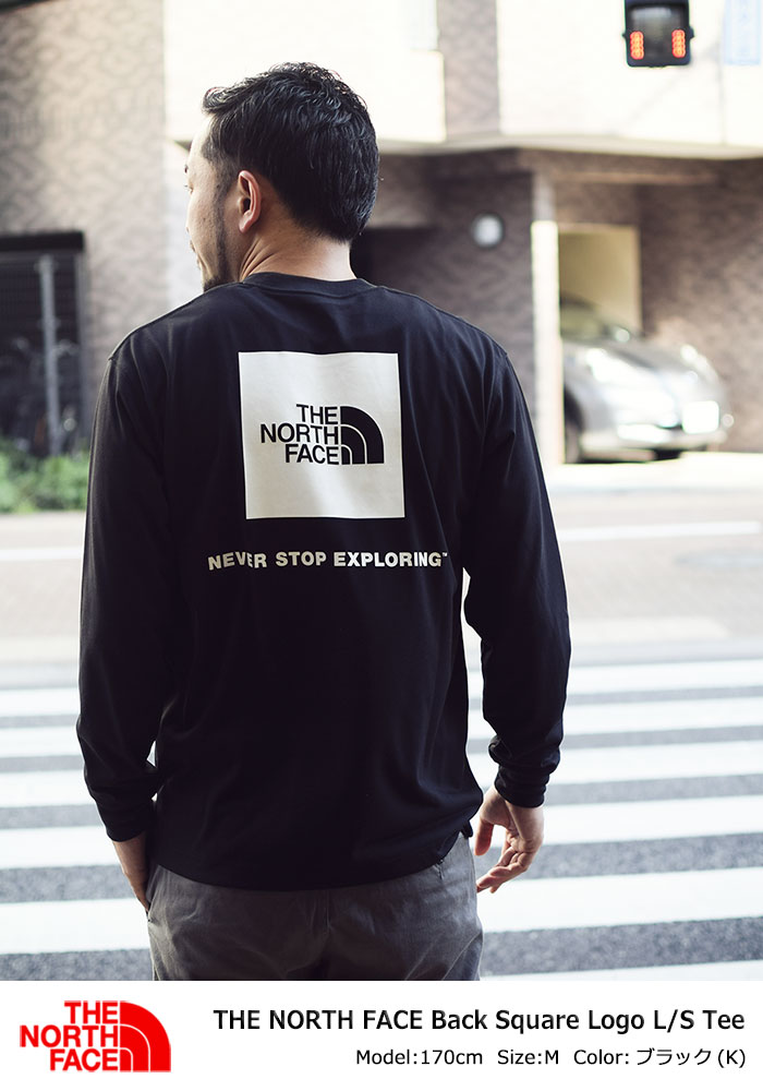 THE NORTH FACEザ ノースフェイスのTシャツ Back Square Logo01
