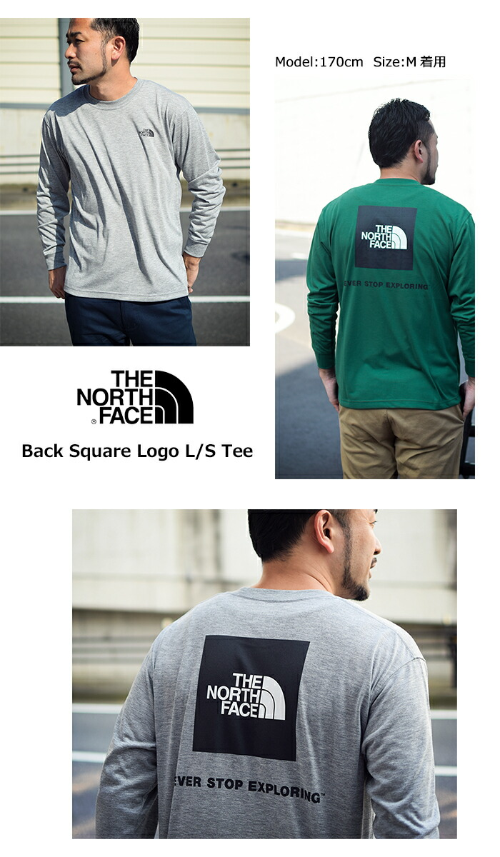 THE NORTH FACEザ ノースフェイスのTシャツ Back Square Logo06