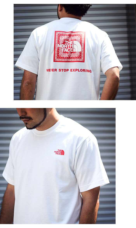 THE NORTH FACEザ ノースフェイスのTシャツ Bandana Square Logo03