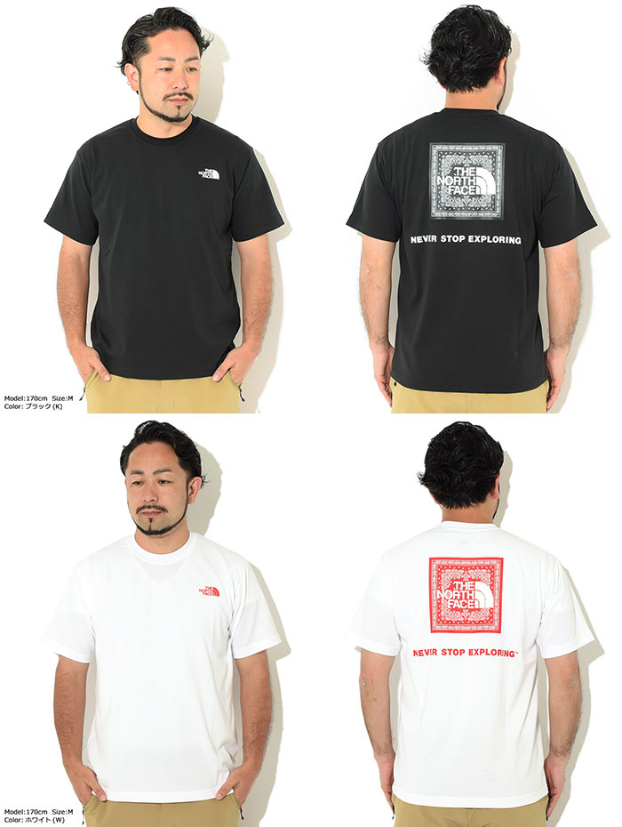 THE NORTH FACEザ ノースフェイスのTシャツ Bandana Square Logo08