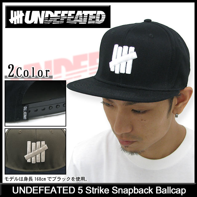 f52b15cca Undefeated UNDEFEATED five strike snap back Cap (the undefeated UNDFTD 5  Strike Snapback Ballcap Cap mens men's hats bousi 531014) ice filed icefield