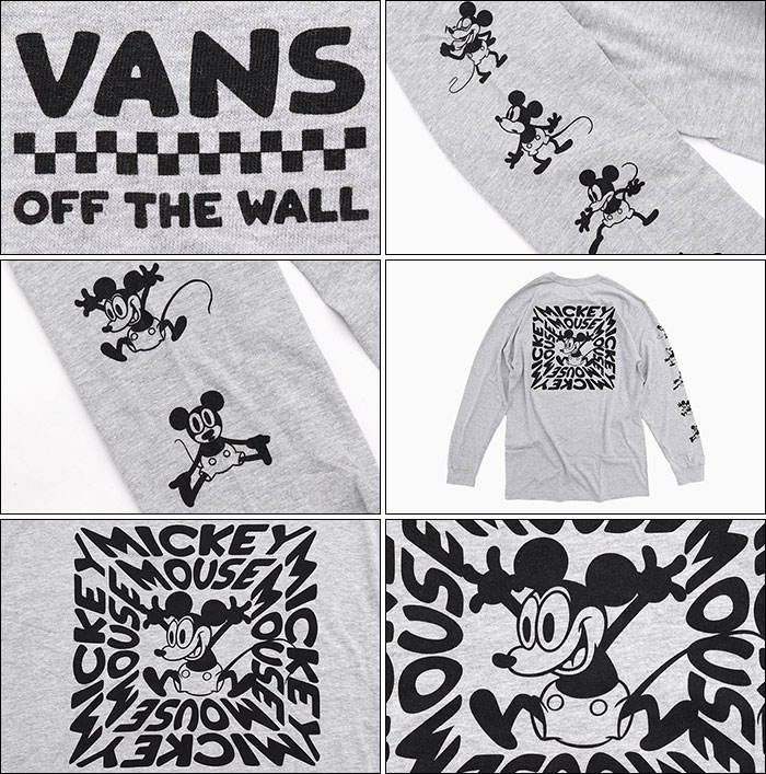 VANSバンズのTシャツ Disney Mickeys 90th Plane Crazy06