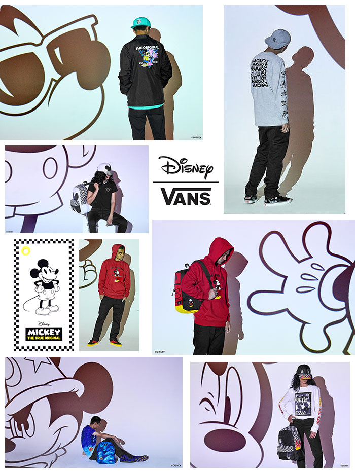VANSバンズのTシャツ Disney Mickeys 90th Plane Crazy01