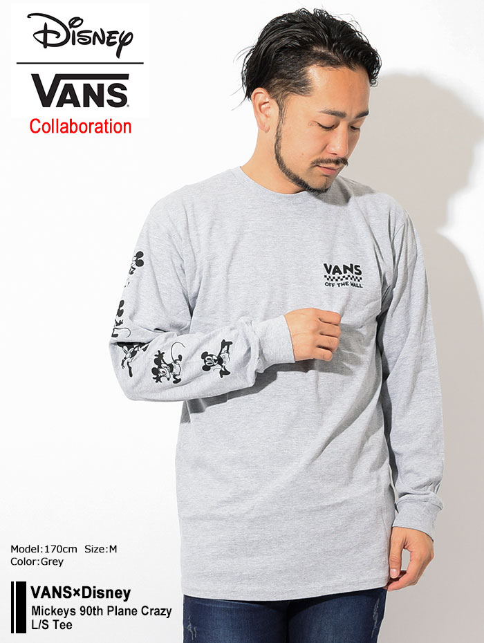 VANSバンズのTシャツ Disney Mickeys 90th Plane Crazy03