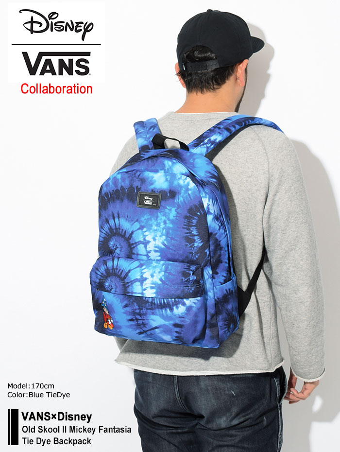 VANSバンズのリュック Disney Old Skool II Mickey Fantasia Tie Dye Backpack01