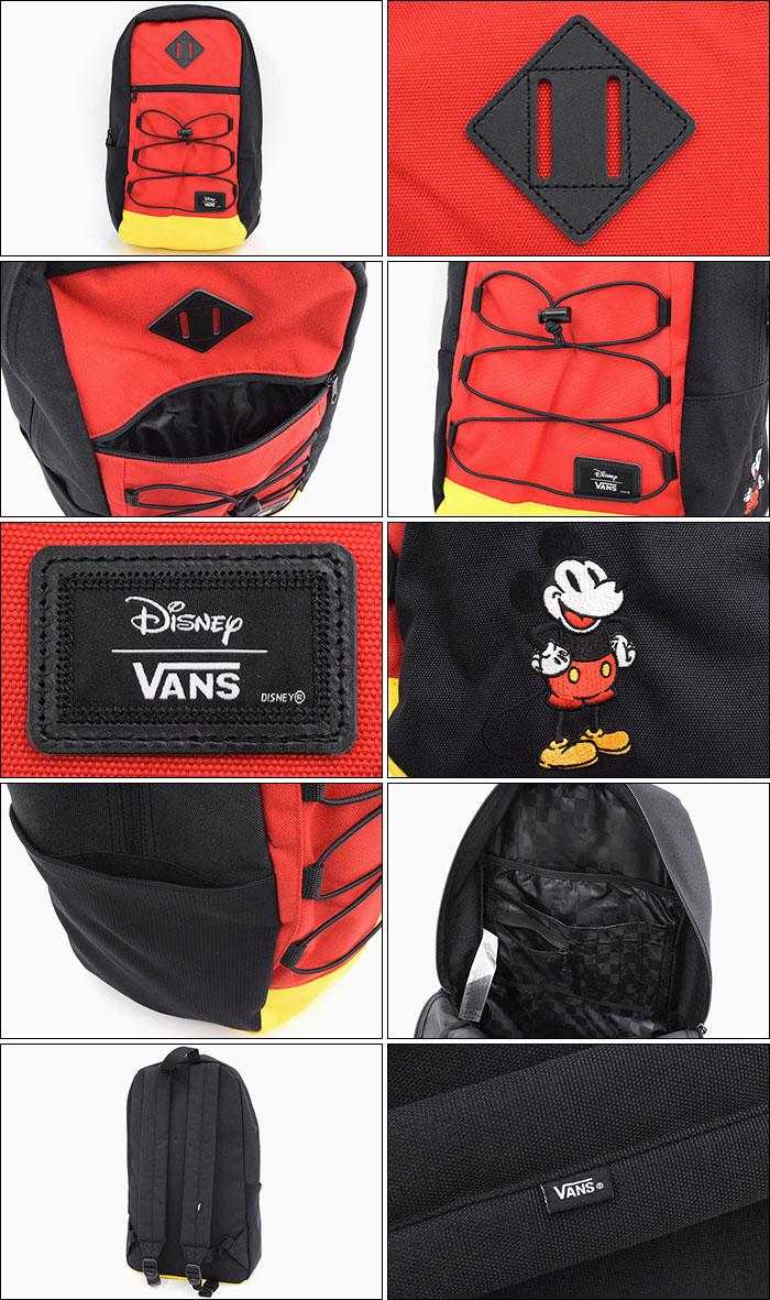VANSバンズのリュック Disney Snag Classic Mickey Backpack05