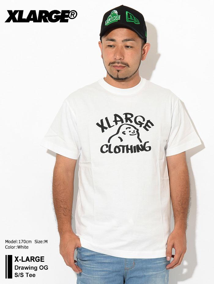 X-LARGEエクストララージのTシャツ Drawing OG01