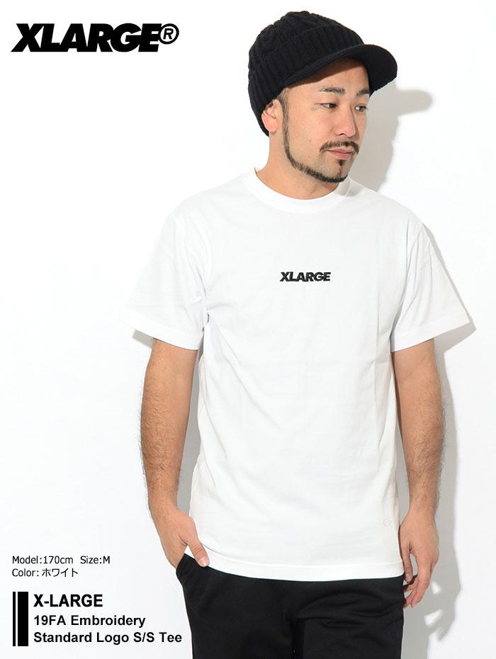 X-LARGEエクストララージのTシャツ 19FA Embroidery Standard Logo01