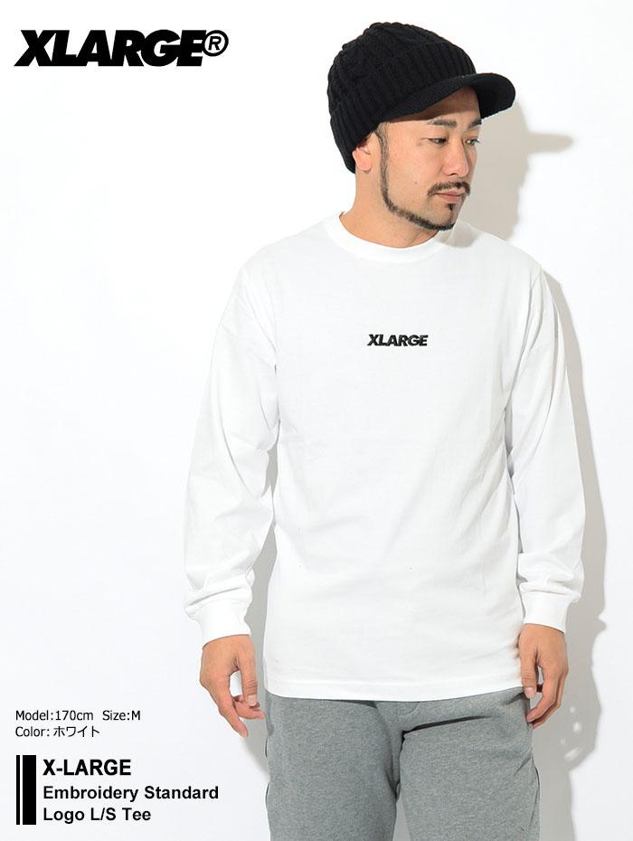 X-LARGEエクストララージのTシャツ Embroidery Standard Logo01