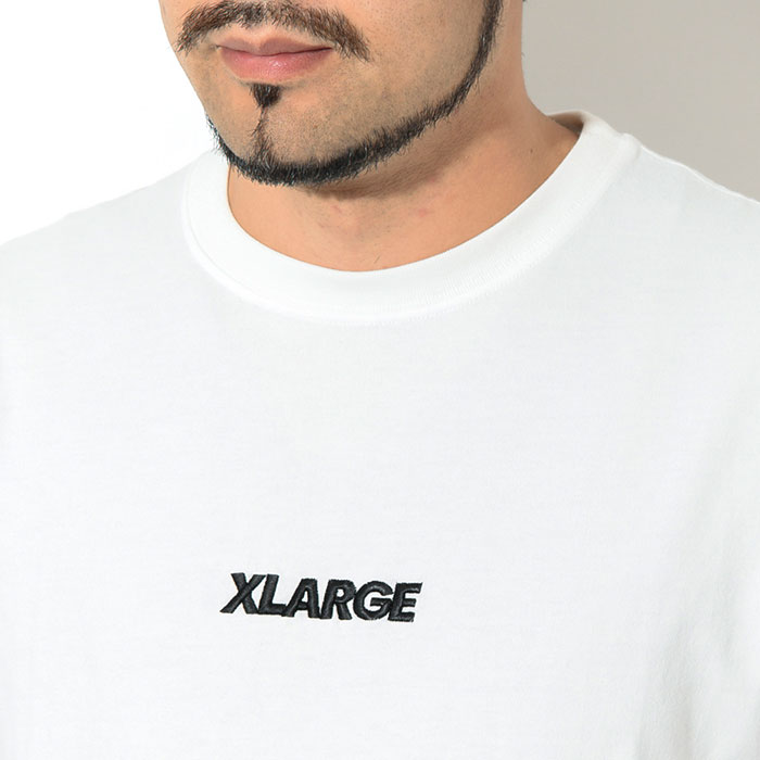 X-LARGEエクストララージのTシャツ Embroidery Standard Logo02