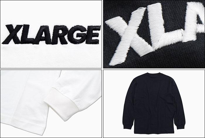 X-LARGEエクストララージのTシャツ Embroidery Standard Logo03