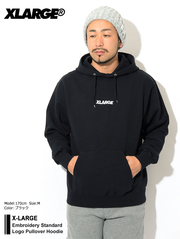 X-LARGEエクストララージのパーカー Embroidery Standard Logo Pullover Hoodie01