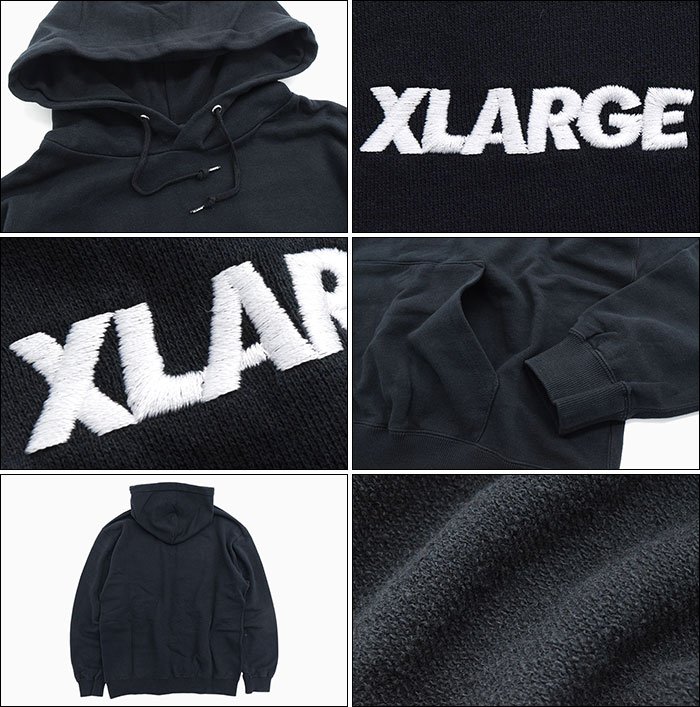 X-LARGEエクストララージのパーカー Embroidery Standard Logo Pullover Hoodie03
