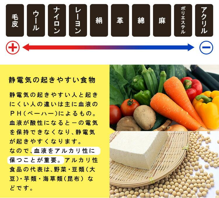 静電気の起きやすい食物