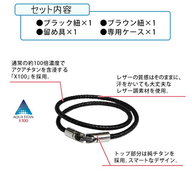 ファイテンRAKUWAブレスX100レザータッチのセット内容と特長