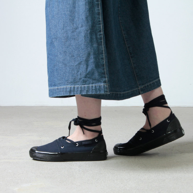 KAPTAIN SUNSHINE(キャプテンサンシャイン) Mariner Slip-on Made by SUPERGA Women's size