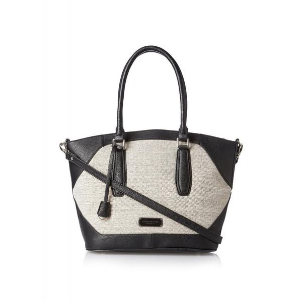 [ロンドンフォグ] London Fog エイブリー リネン ショルダーバッグ ブラック Women's Avery Linen Shoulder Bag Black