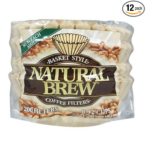コーヒーフィルター Natural Brew バスケットタイプ 8-12 カップ