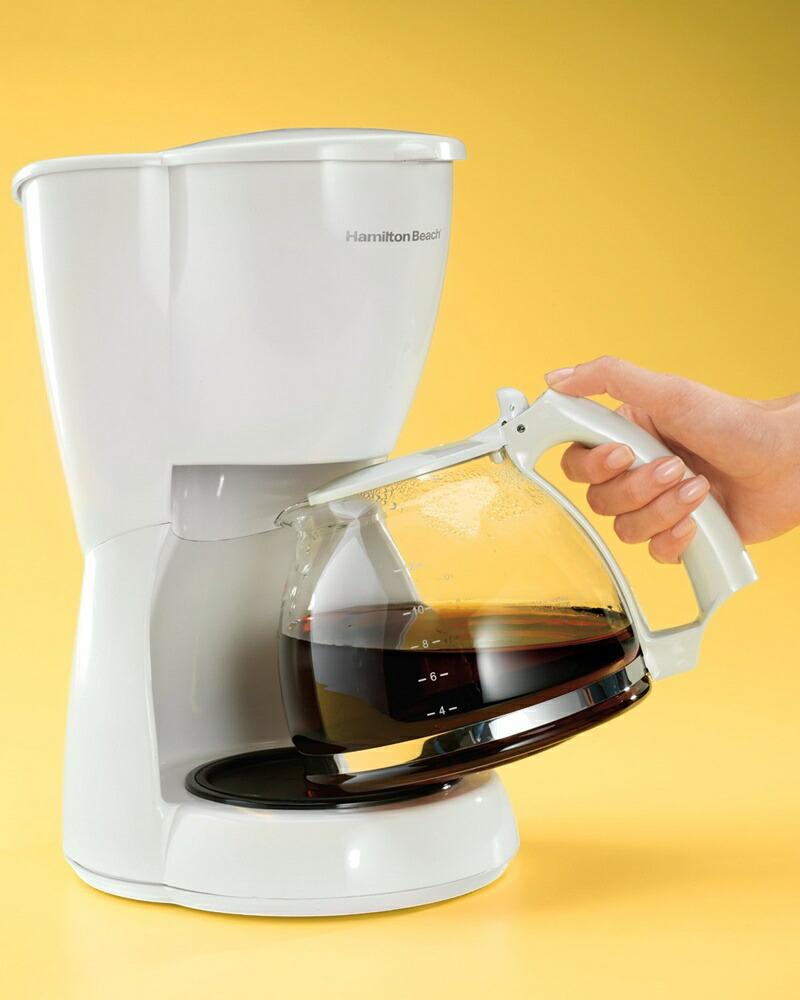 ハミルトンビーチ コーヒーメーカー 12カップ ホワイト